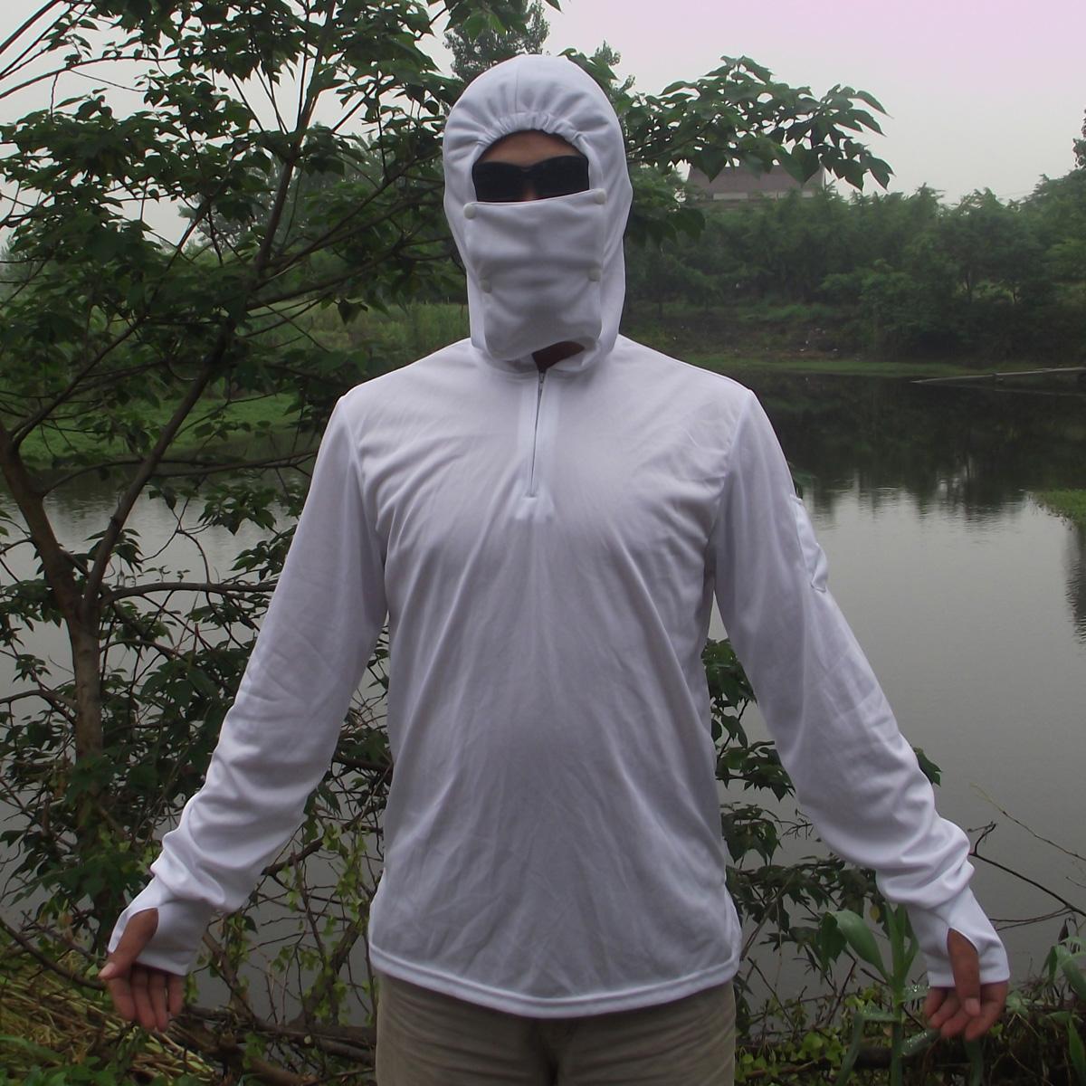 特价正品夏季防紫外线垂钓鱼衣服T恤防晒透气吸汗男女带护脸 包邮