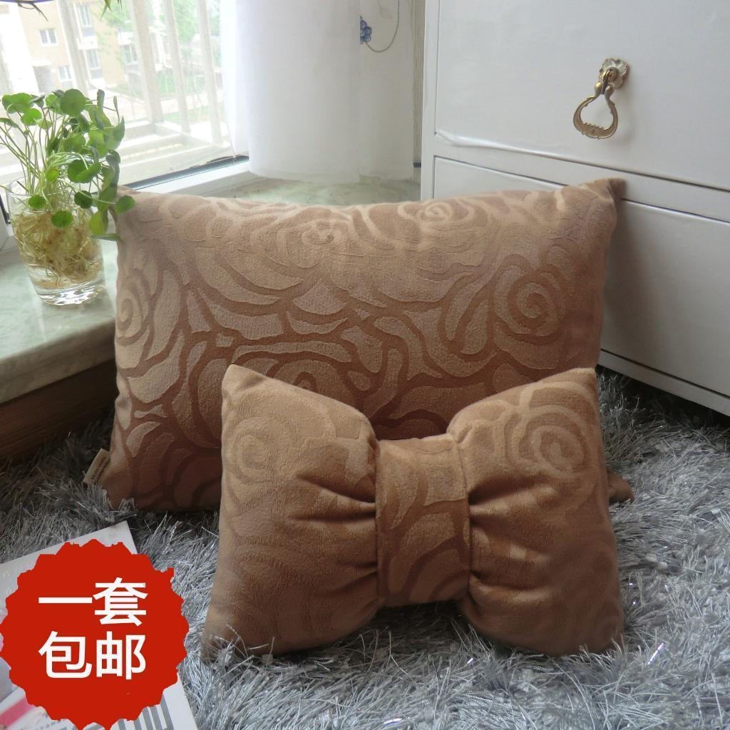 2013新款包邮汽车头枕2件套颈枕 车用四季头枕夏季 腰靠枕靠套装