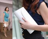 手拿包女2013新款潮韩版女士手包女包包链条小包手提单肩斜跨包邮