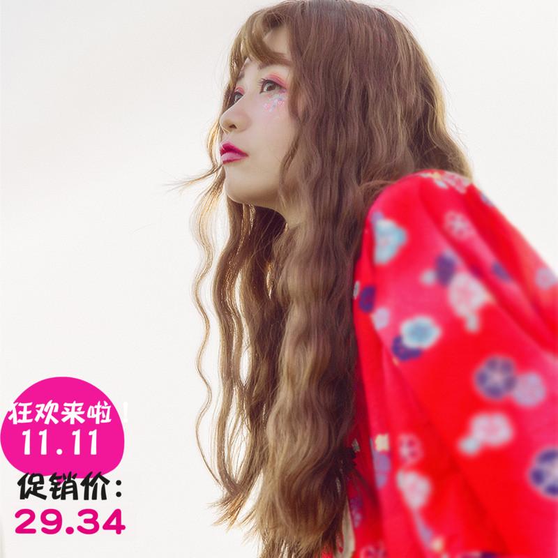 假发女空气刘海长发玉米烫大波浪蛋卷发型隐形无痕韩国网红同款套图片