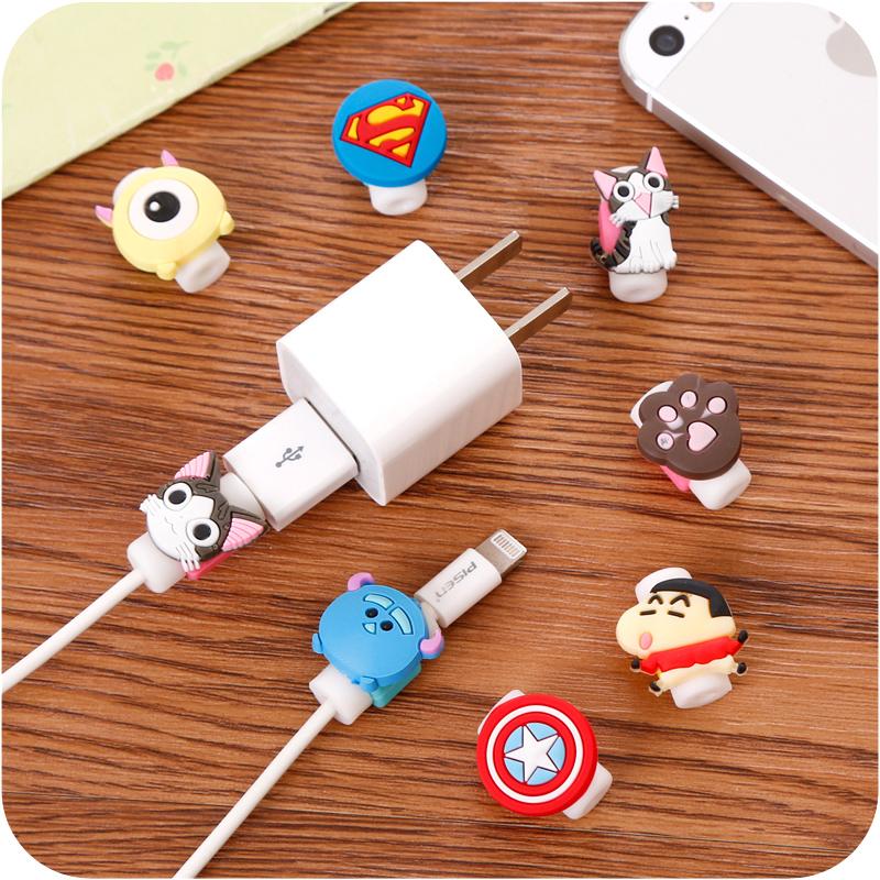 卡通可爱数据线保护套安卓苹果6S线套手机充电线防断裂耳机保护器