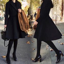 2016大码女装冬季新款胖mm韩版中长款外套修身大摆裙毛呢大衣女厚