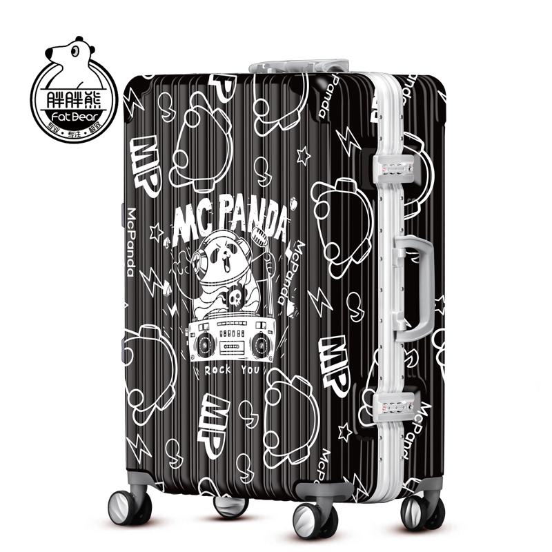 胖胖熊麦克熊猫拉杆箱卡通潮箱万向轮登机箱旅行箱箱包m002