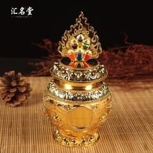 八吉祥龙王宝瓶 中号特价 黄财神如意宝瓶 佛教镀金彩绘摩尼宝瓶