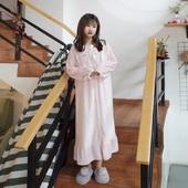 睡衣加绒长袖 可爱公主风珊瑚绒睡裙女长款 甜美长袖 秋冬家居服韩版