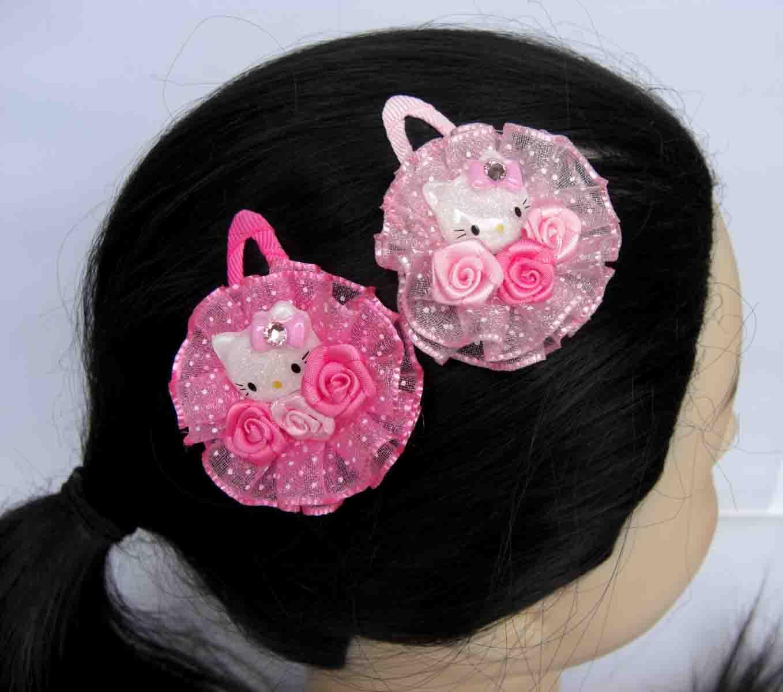 韩版 HELLO KITTY儿童头饰发饰发夹 顶夹 公主边夹 儿童发夹BB夹