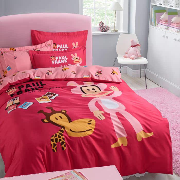 卡通全棉四件套 活性印花纯棉四件套床单被套四件套床上用品 包邮