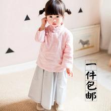 女孩儿童民国五四学生改良旗袍裙子服装 素壹品记汉服棉麻中式唐装