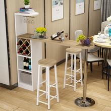 吧台家用吧台桌简约现代酒柜客厅隔断柜创意门厅柜玄关柜高脚桌椅