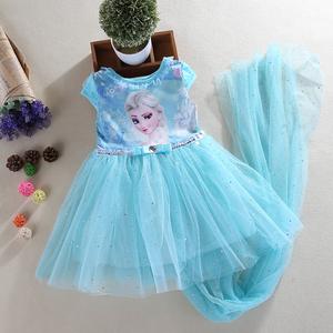 冰雪奇缘公主裙童装女童春装连衣裙春秋夏装艾莎儿童爱莎裙子短袖