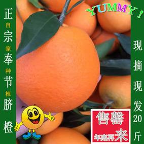 重庆奉节脐橙脐橙新鲜水果超赣南橙子20斤10kg多地包邮特惠手剥橙