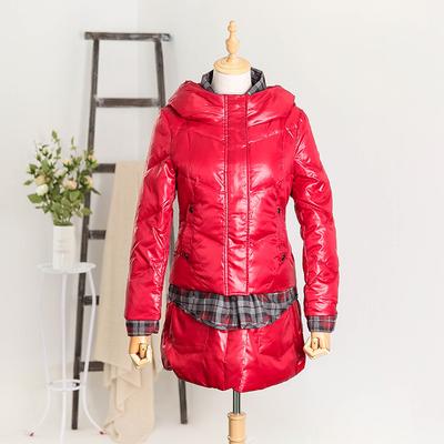 反季冬装新款韩版女式中长款连帽羽绒加厚修身防寒衣精品外套