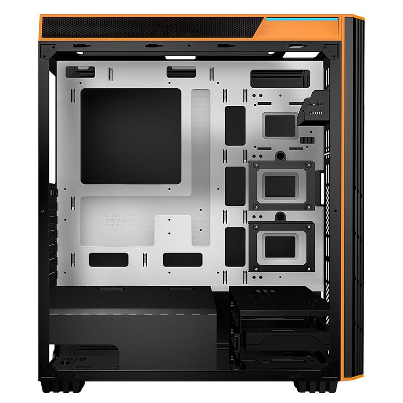 爱国者 暗夜黑爵H400水冷全侧透机箱游戏大机箱分体式电源下置