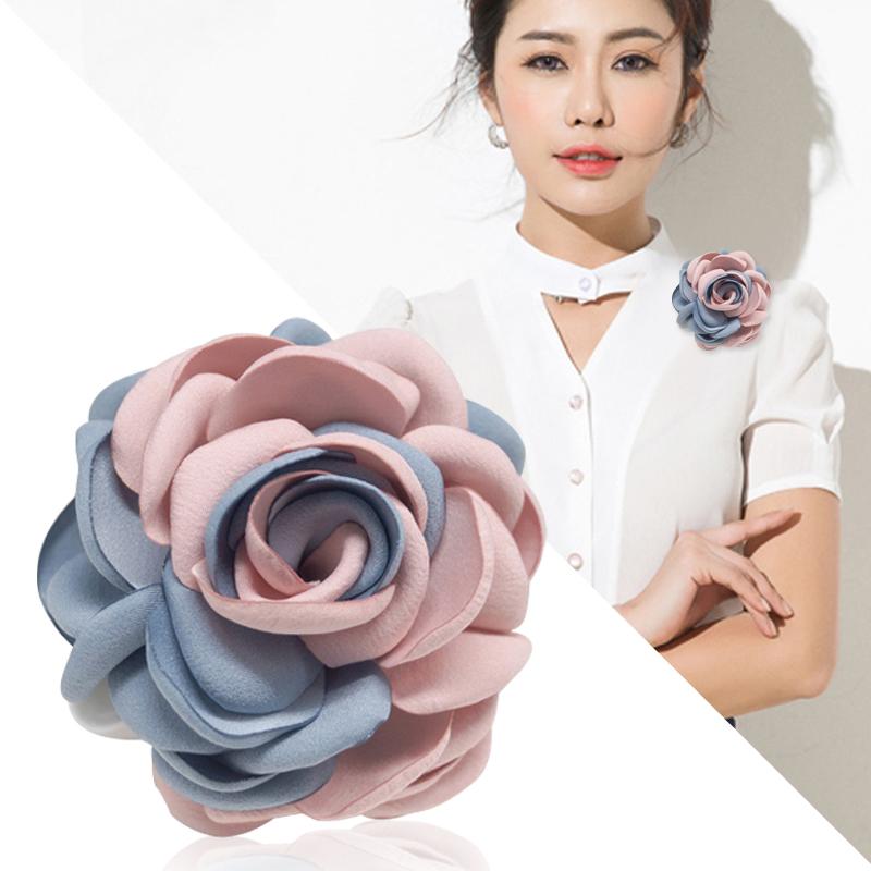 韩国饰品胸针花朵女毛衣开衫披肩扣大别针简约装饰胸花花朵配饰