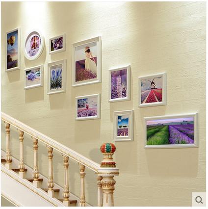 欧式楼梯装饰画创意走廊过道墙面相框挂画客厅沙发墙