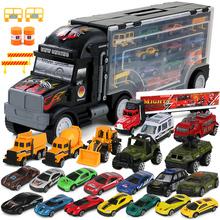 货柜卡车儿童益智玩具合金汽车集装箱模型3 4 5 6岁男孩生日礼物