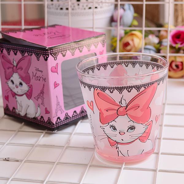 玛丽猫 小仙女 花仙子 水彩涂鸦系列 玻璃杯 水杯 杯子