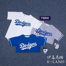 棒球服道奇队Dodgers街舞蹈服儿童装亲子装情侣运动服休闲短袖T恤