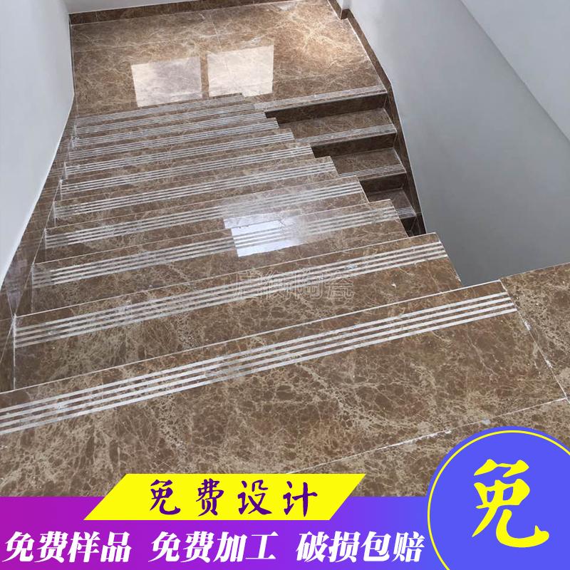 一体瓷砖楼梯砖梯级砖地板踏步砖抛釉台阶 防滑连体单色1米砖