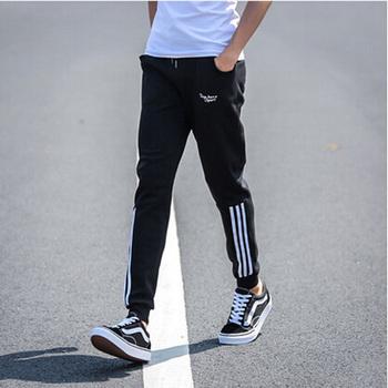 夏天薄款运动裤男青年休闲长裤子