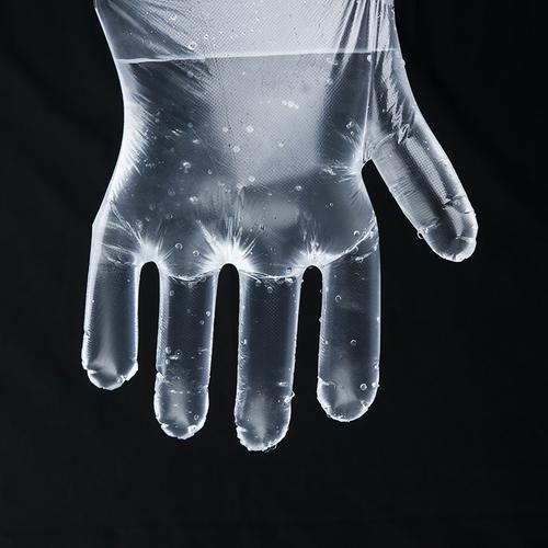 加厚一次性手套餐饮美发手膜食品吃龙虾透明塑料PE薄膜手套包邮