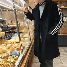 2017新款秋冬季毛呢大衣韩版中长款男士风衣潮牌宽松帅气呢子外套