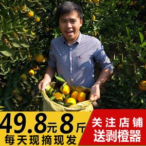 【现摘现发】湖南新鲜橙子水果冰糖脐橙8斤非赣南脐橙包邮批发