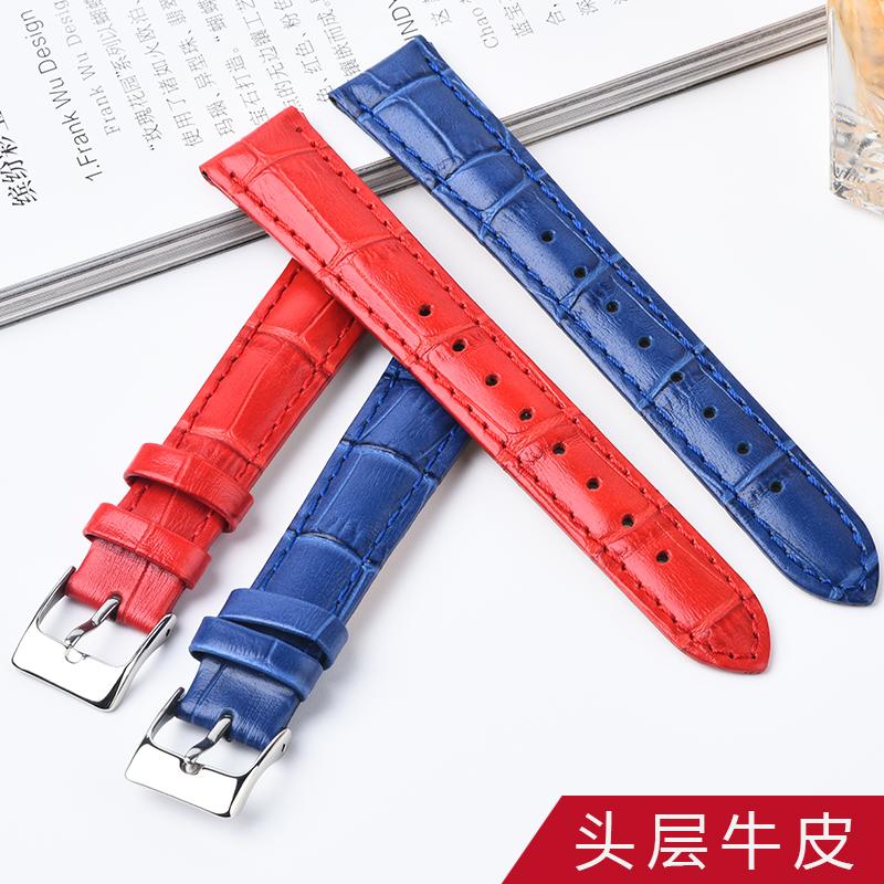 folli follie手表带女真皮代用芙丽表带通用竹节纹表带女配件新款
