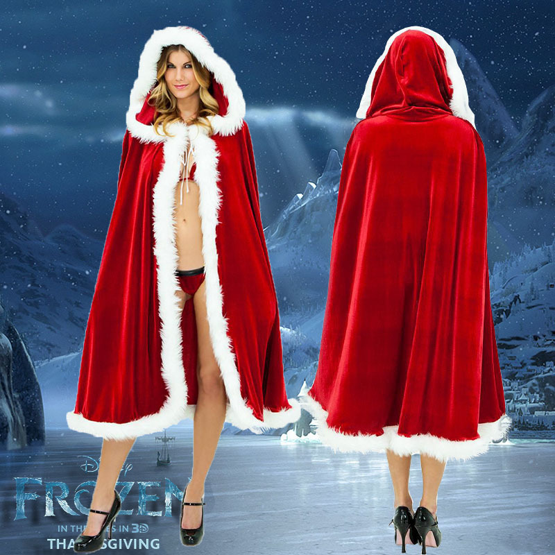 圣诞节服装**酒吧舞会派对衣服圣诞女服装披肩斗篷风衣演出服装