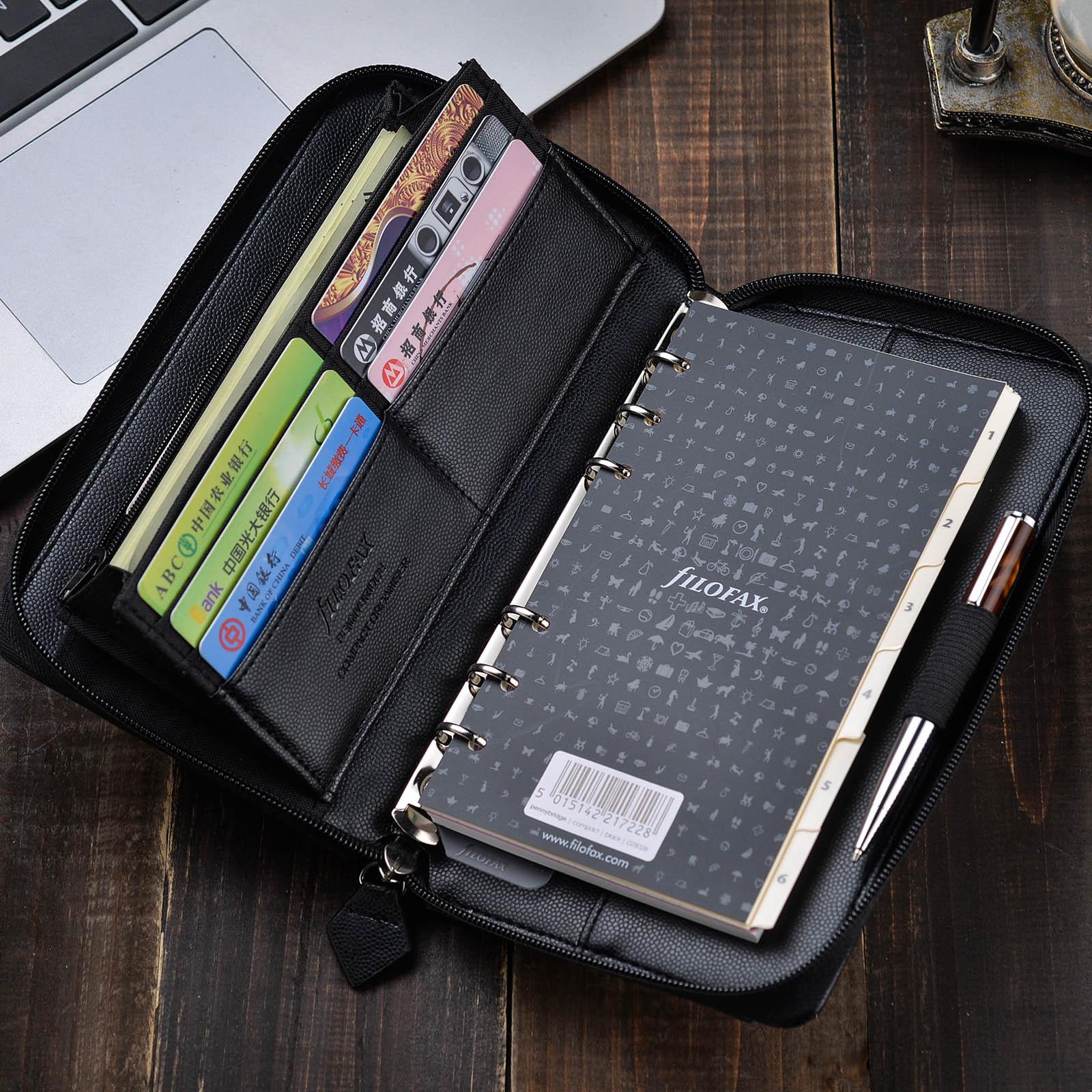 Filofax compact Zip A6 拉链包 活页本笔记本记事本 手包 钱包
