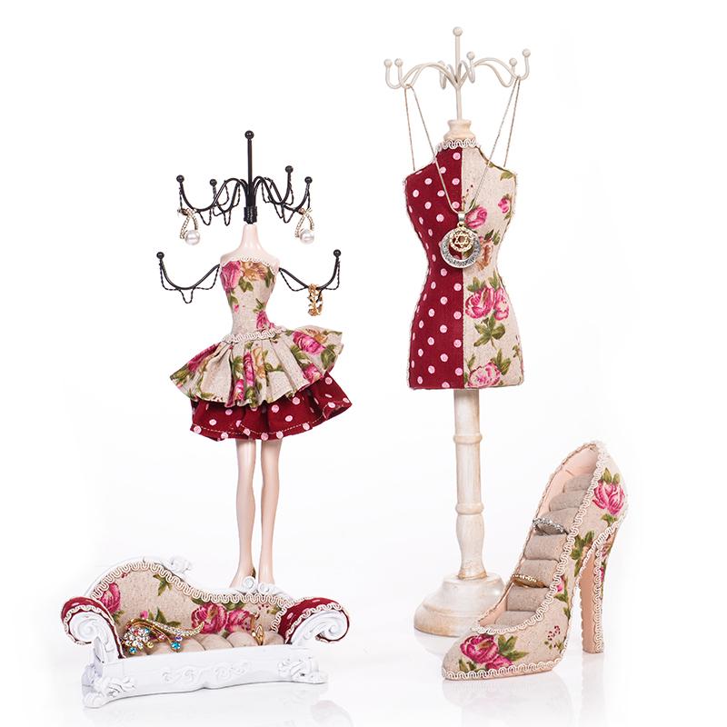 欧式模特创意首饰架饰品展示架公主礼物挂项链耳环