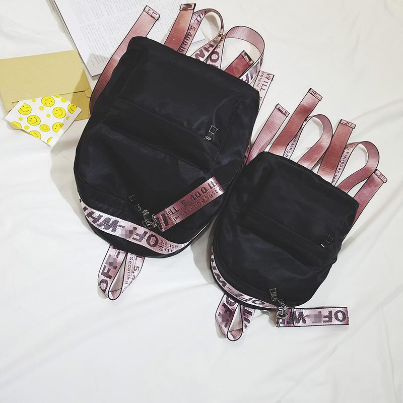 牛津书包款韩版防水旅行彩带背包双肩