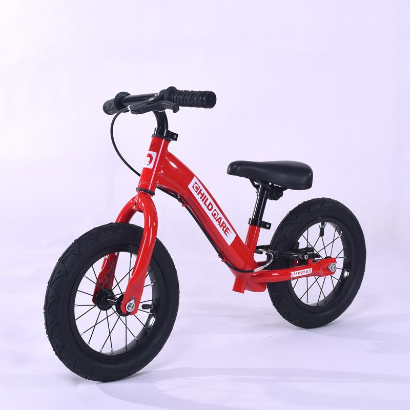 儿童平衡车出口德国无脚踏两轮自行车宝宝滑行车3-7岁12寸充气轮