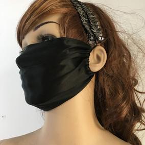 夏季加大尺寸23*16cm 单层纯真丝口罩 防风防晒防紫外线