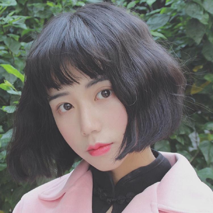 二次元原宿假发女 空气刘海蛋卷头泡面烫 动漫cosplay短卷发 多色