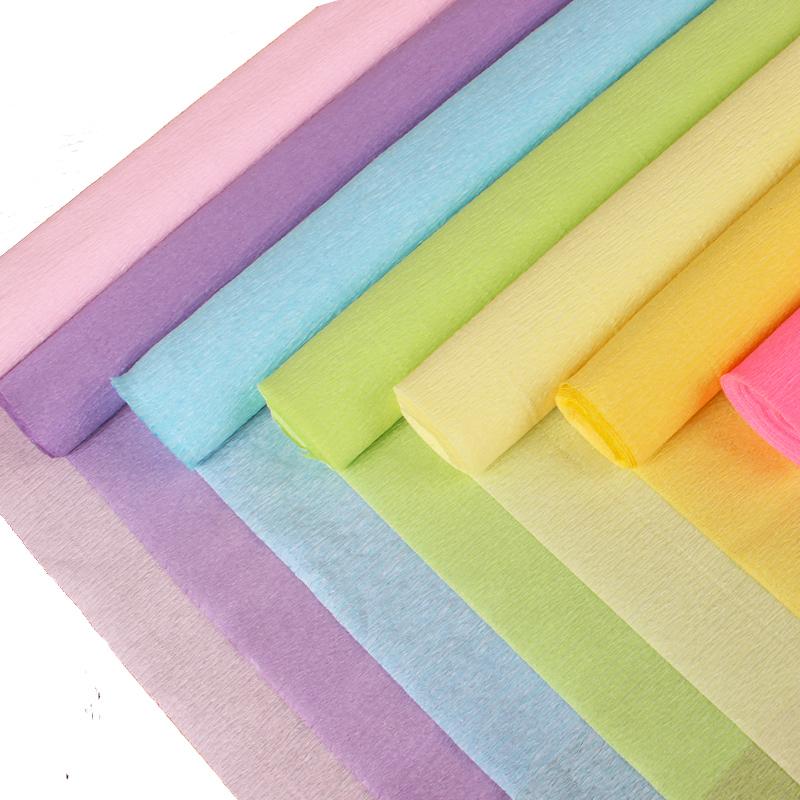 皱纹纸卷边纸 儿童幼儿园学校手工DIY制作做纸花纸玫瑰花的材料