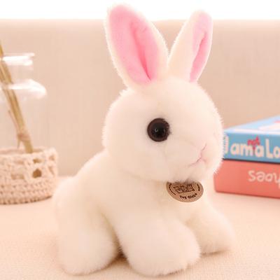 正版毛绒玩具仿真兔子布娃娃小白兔公仔可爱兔兔儿童女孩生日礼物