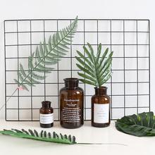 ins装饰照片墙网格铁艺置物架卧室背景墙植物仿真树叶龟背叶道具