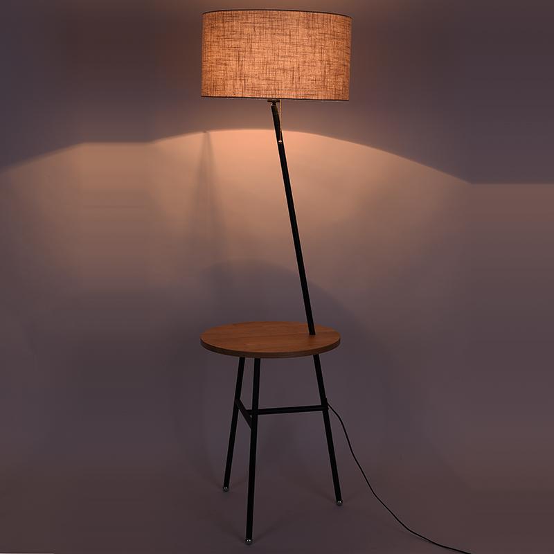 落地灯客厅简约现代沙发茶几灯美式北欧遥控卧室立式带桌地灯台灯