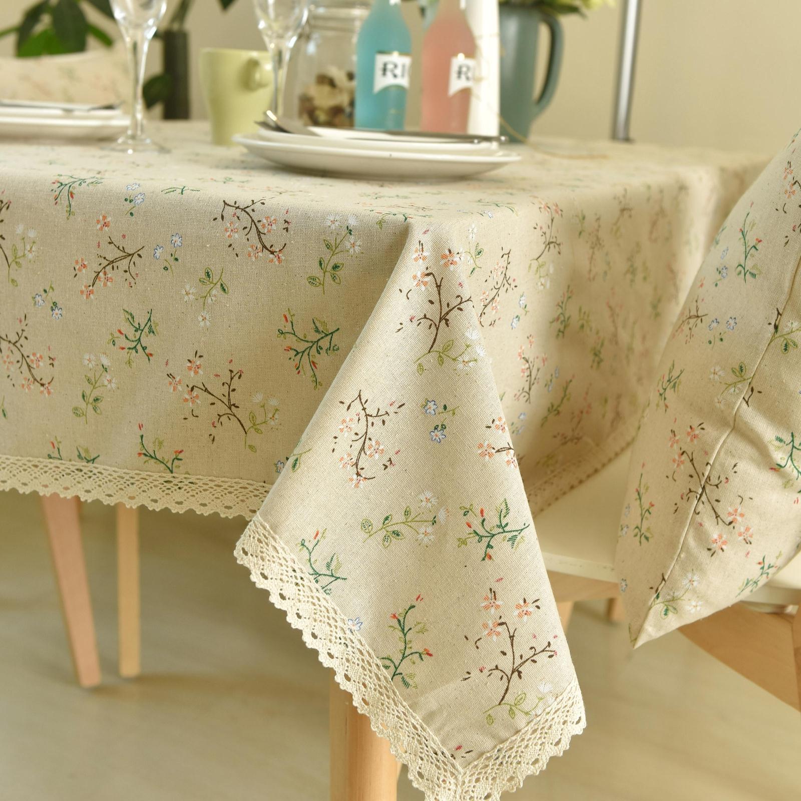 欧式田园风格小雏菊茶几台布桌垫桌布布艺蕾丝边餐桌