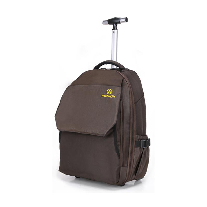 单拉杆背包休闲韩版男女旅游包双肩户外旅行包多功能运动行李箱