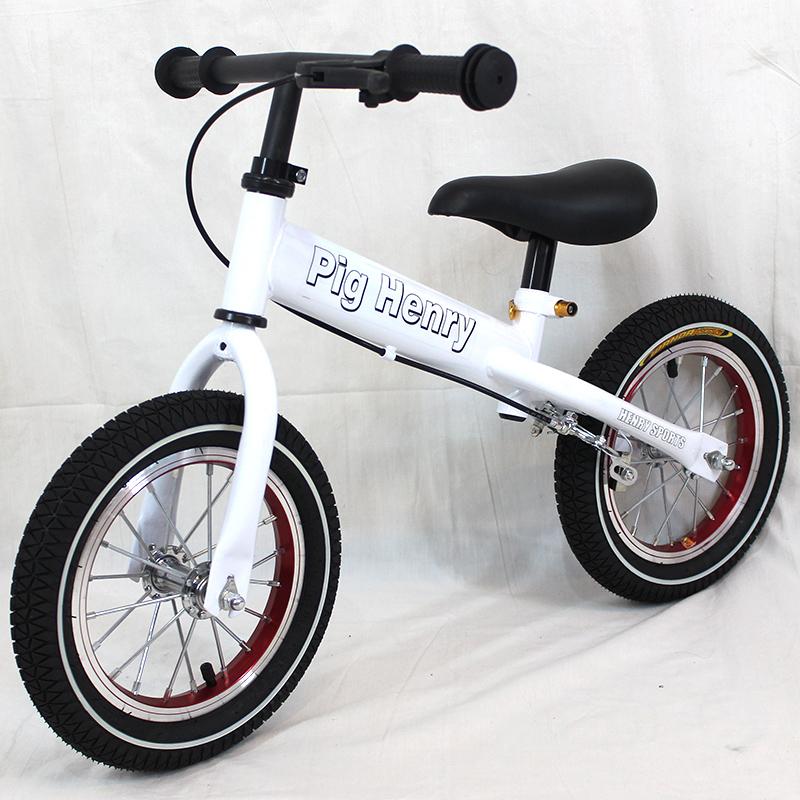 两轮滑步车儿童平衡车无脚踏自行车德国品质宝宝滑行车12寸充气轮