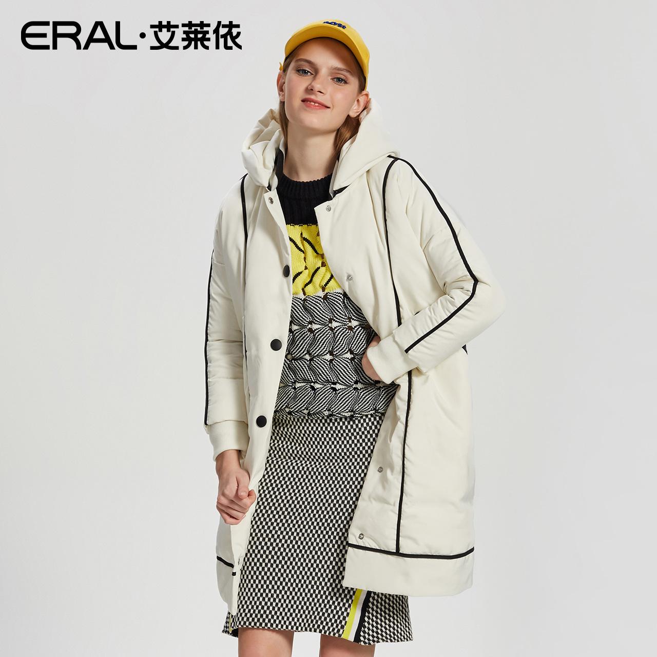 冬季韩版鸭绒 女士中长款羽绒服连帽淑女性轻薄冬装修身高端 女款