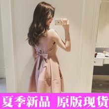 2017新款公主裙成人无袖小清新连衣裙女夏甜美蓬蓬仙女裙收腰裙子