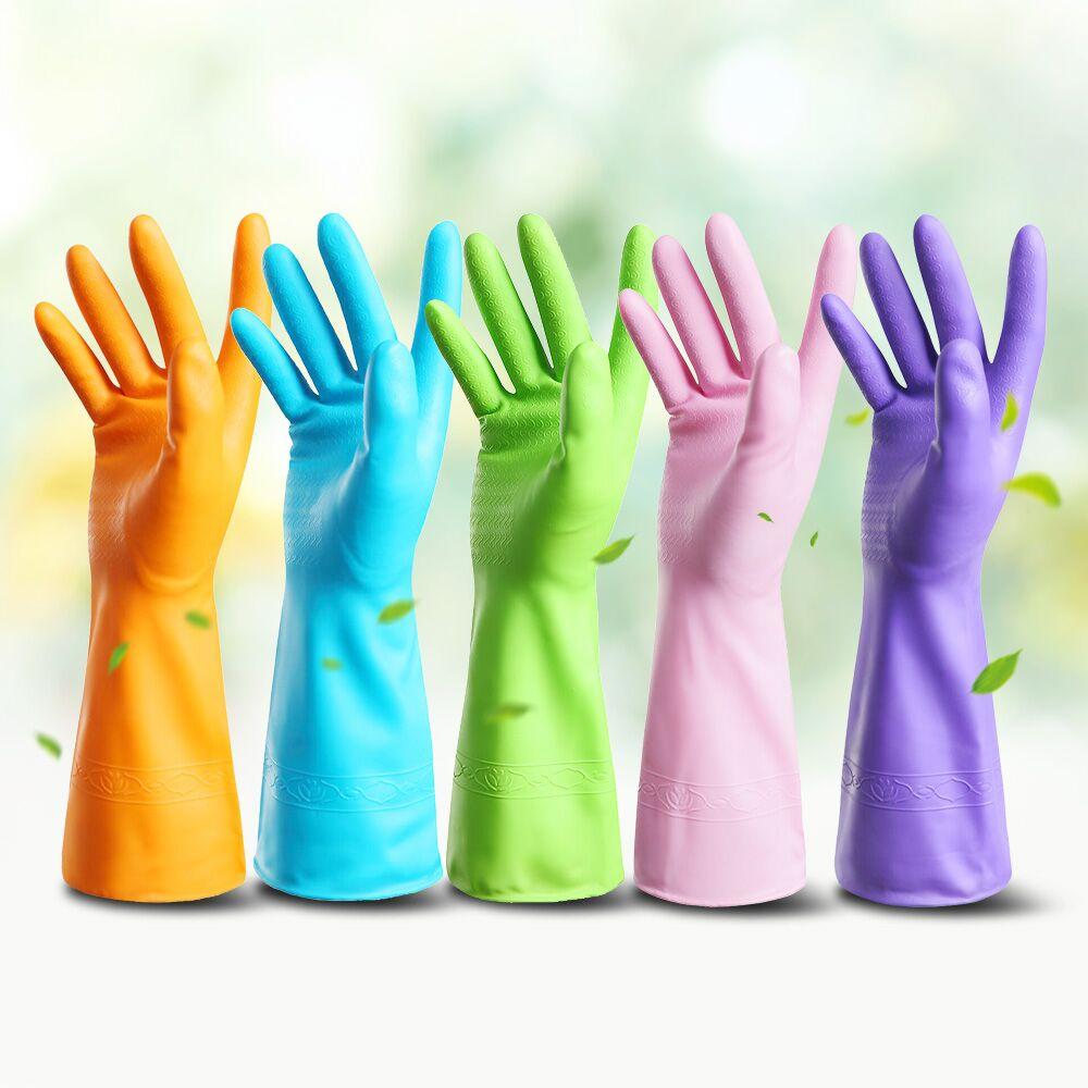 【天天特价】侨丰茶香味5双装短款家用洗碗洗衣家务清洁护肤手套