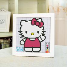 天天特价 简单十字绣小幅新手绣卡通人物kitty猫儿童卧室印花