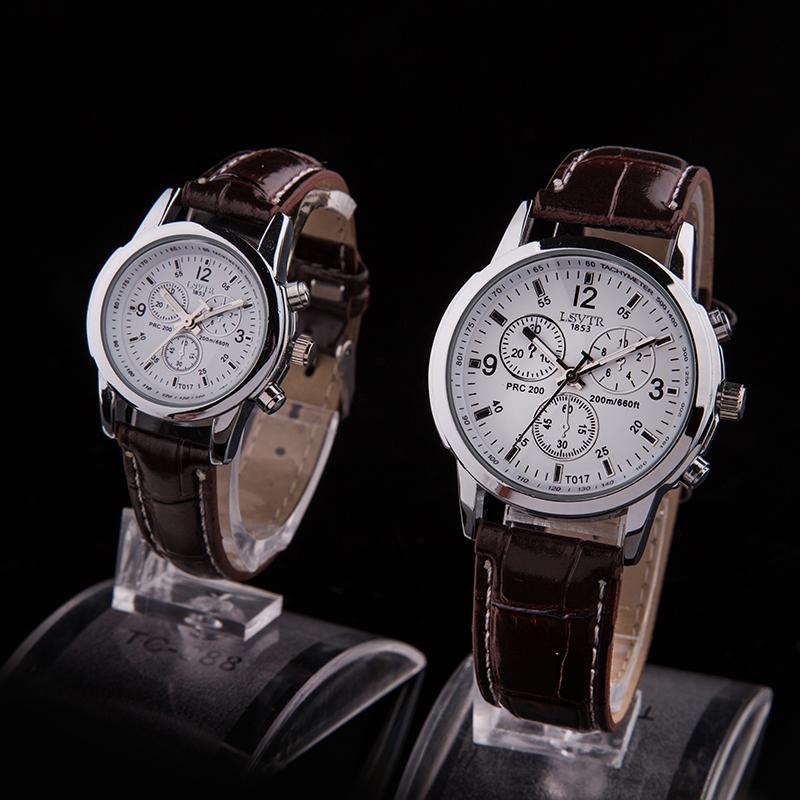 韩国潮流时尚真皮带女表款非机械学生表男士手表男表防水情侣手表