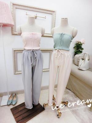 2016春季新款女装ice cream韩国东大门麻花编织两穿裹胸