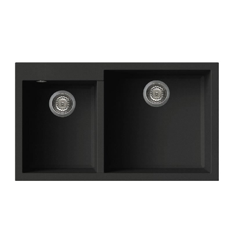 ... 原裝進口花崗岩水槽石英石水槽雙槽廚房洗碗池 Fox455