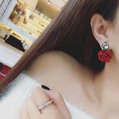 日韩版锆石花朵耳钉女气质韩国个性时尚百搭耳环耳饰配饰装饰品
